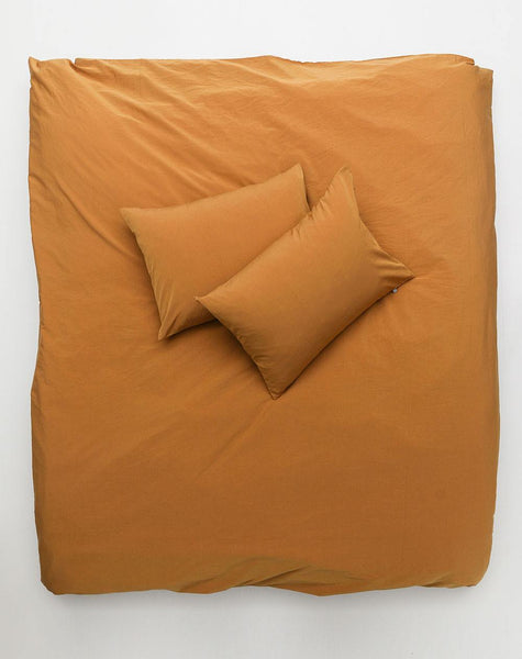 Vintage Egyptian Cotton Duvet Covers and Pillows - Amber ( Col 26) - ZigZagZurich  - 1
