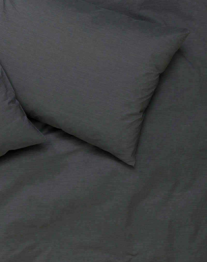 Yarn Dyed Egyptian Cotton Vintage Bedding - Vintage Egyptian Cotton Duvet Covers And Pillows - Anthracite ( Col 07 )