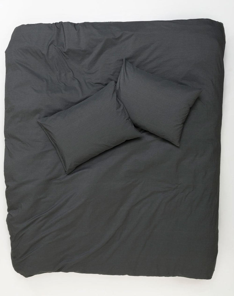 Vintage Egyptian Cotton Duvet Covers and Pillows - Anthracite ( Col 07 ) - ZigZagZurich  - 1