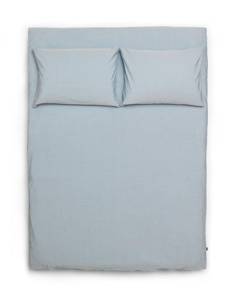 Yarn Dyed Egyptian Cotton Vintage Bedding - Vintage Egyptian Cotton Duvet Covers And Pillows - Baby Blue ( Col 32 )