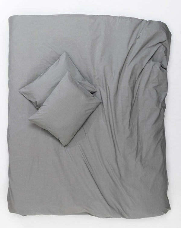 Yarn Dyed Egyptian Cotton Vintage Bedding - Vintage Egyptian Cotton Duvet Covers And Pillows - Grey ( Col 04 )