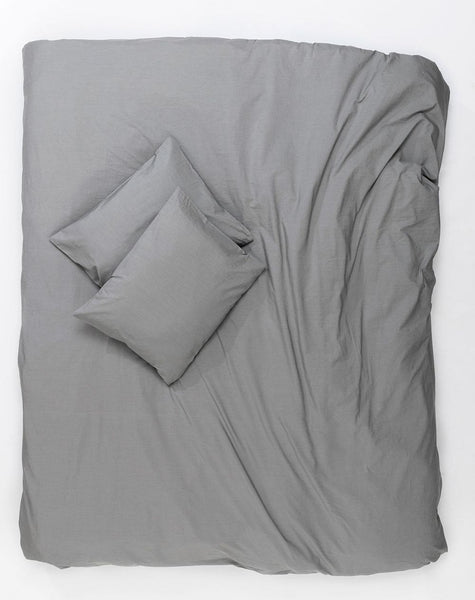 Vintage Egyptian Cotton Duvet Covers and Pillows - Grey ( Col 04 ) - ZigZagZurich  - 1