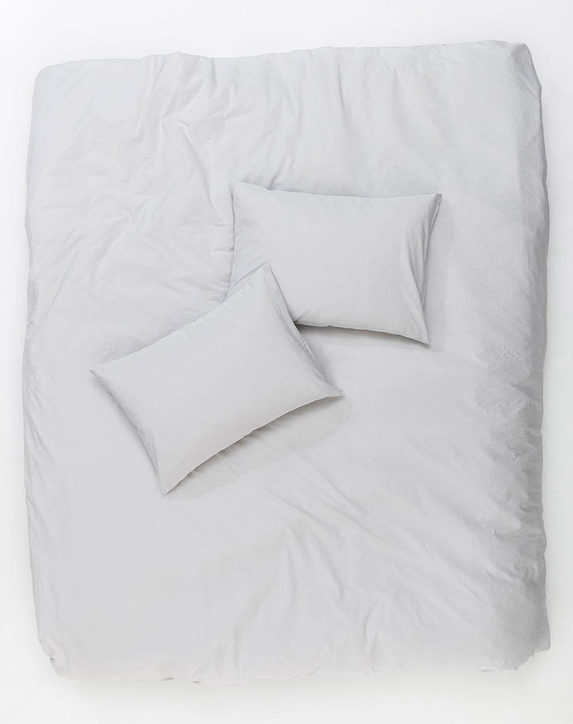 Vintage Egyptian Cotton Duvet Covers and Pillows - Light Grey ( col 03 ) - ZigZagZurich  - 1