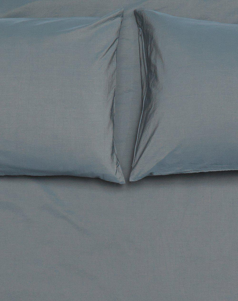 Yarn Dyed Egyptian Cotton Vintage Bedding - Vintage Egyptian Cotton Duvet Covers And Pillows - Nickel ( Col 38 )