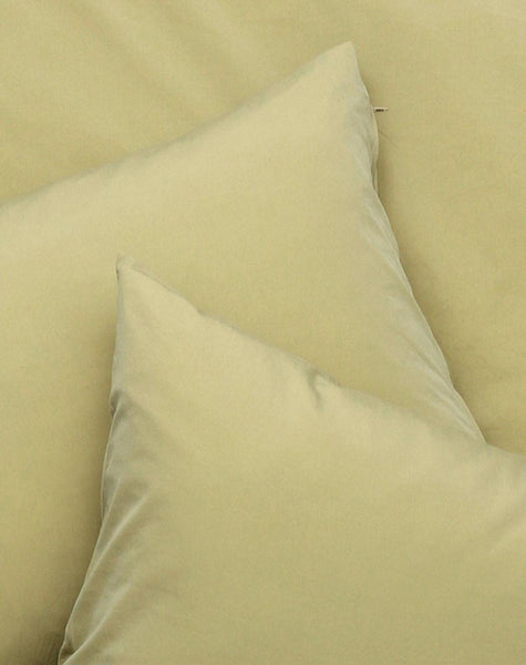 Yarn Dyed Egyptian Cotton Vintage Bedding - Vintage Egyptian Cotton Duvet Covers And Pillows - Safari Khaki ( Col 19 )
