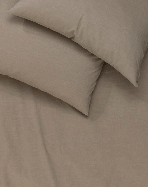 Yarn Dyed Egyptian Cotton Vintage Bedding - Vintage Egyptian Cotton Duvet Covers & Pillows - Brown ( Col. 06 )