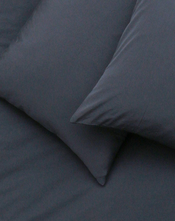 Yarn Dyed Egyptian Cotton Vintage Bedding - Vintage Egyptian Cotton Duvet Covers & Pillows - Dark Blue ( Col 12 )