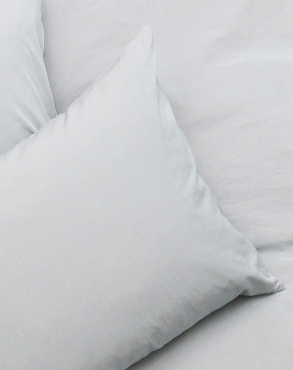 Yarn Dyed Egyptian Cotton Vintage Bedding - Vintage Egyptian Cotton Duvet Covers & Pillows - Powder Blue ( Col 14 )