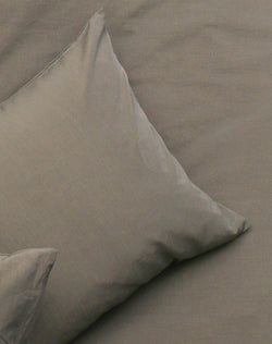 Yarn Dyed Egyptian Cotton Vintage Bedding - Vintage Egyptian Cotton Duvet Covers & Pillows - Stone ( Col 09 )