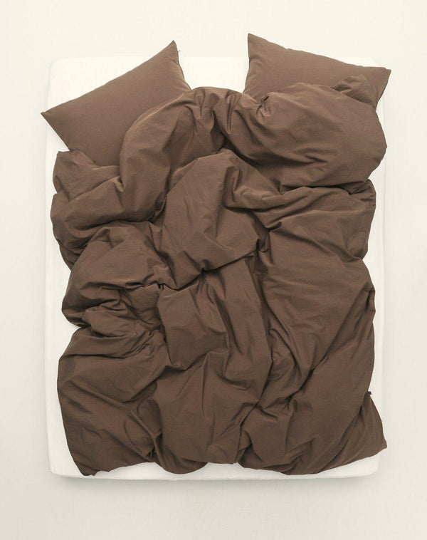 Yarn Dyed Egyptian Cotton Vintage Bedding - Vintage Egyptian Cotton Duvet Covers & Pillows - Tobacco Brown ( Col 16 )
