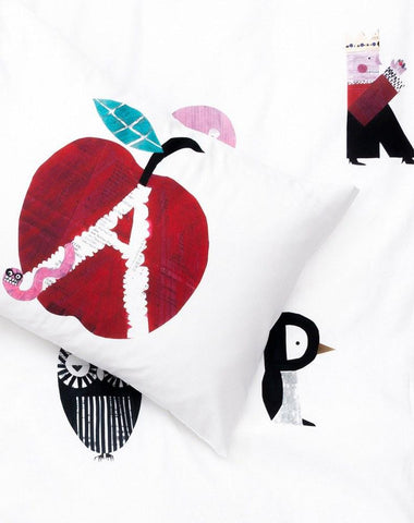 ZigZagZurich Kids - Alphabet City Duvet Covers and Pillows by Natalie Born