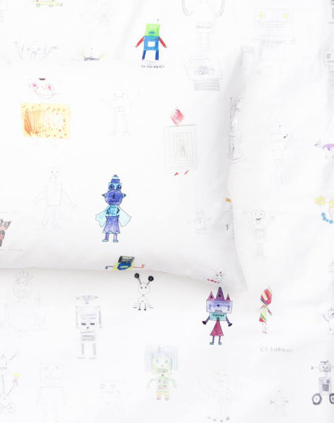ZigZagZurich Kids - Robot Land Duvet Covers and Pillows by Class 1-3 Havelland School - ZigZagZurich  - 1