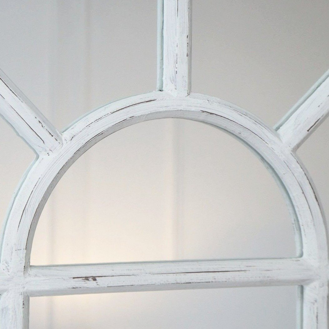 White Arched Window Mirror 56 Quot X 32 Quot Arabella William