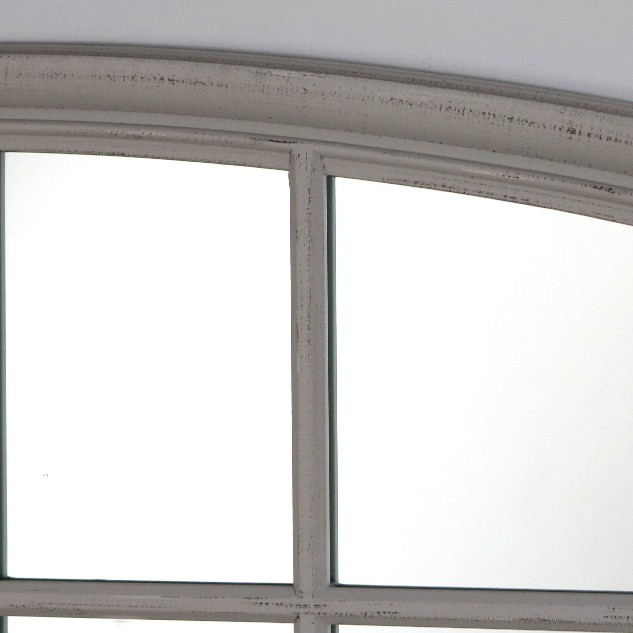 Grey Arched Full Length Window Mirror 72 Quot X 48 Quot Bollin