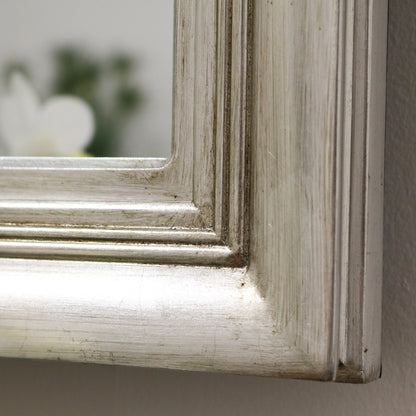 "Prestbury - Platinum Silver Shabby Chic Rectangular Window Mirror 49.5"" x 27.5"" (125cm x 70cm)"