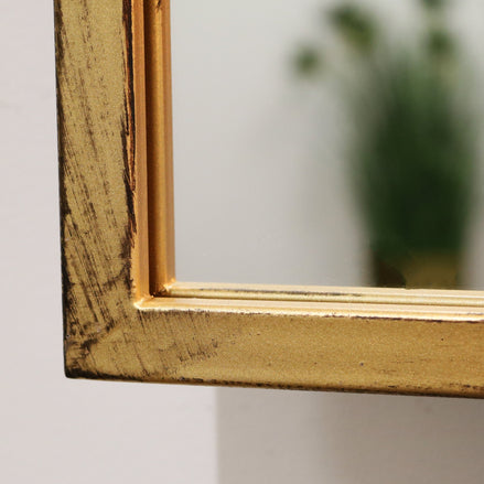 "Islington - Gold Industrial Contemporary Metal Wall Mirror 48"" x 32"" (120cm x 80cm)"