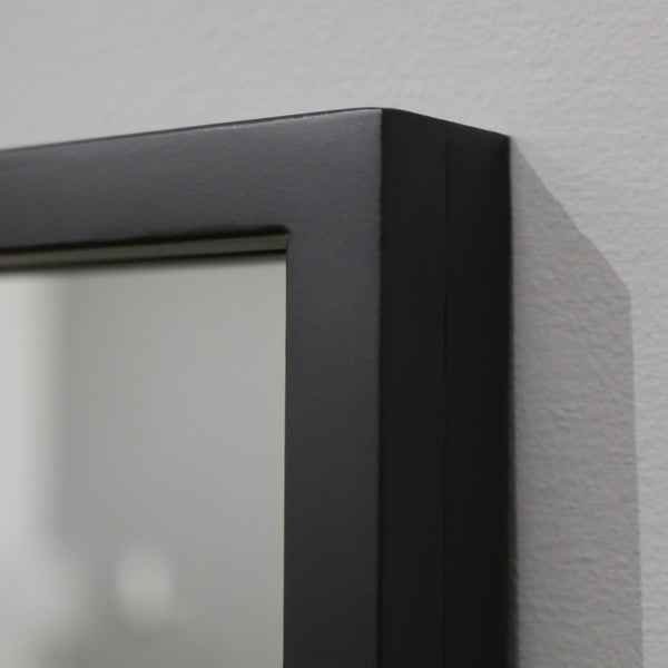 "Islington - Black Industrial Contemporary Full Length Mirror 67"" x 32"" (170cm x 80cm)"