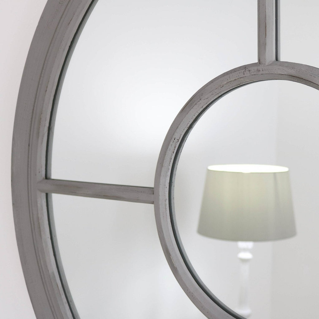 "Rennes Grey Mirror 28"" x 28"""