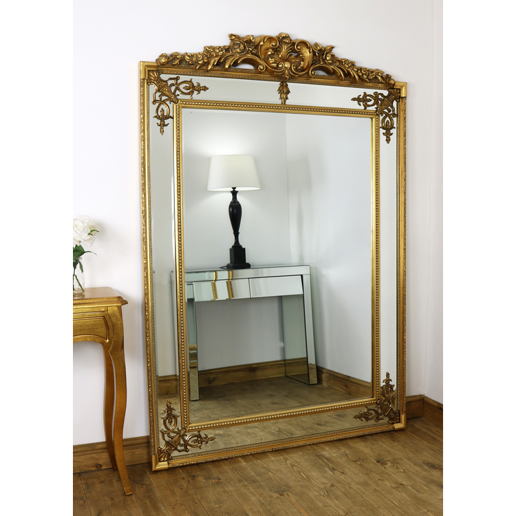 Gold Ornate Crested Full Length Floor Mirror 76 Quot X 51