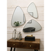 Pebble Triple - Platinum Silver Stone Shaped Trip Tech Wall Mirrors