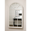 "Arabella - Matte White Arched Window Mirror 56"" x 32"" (139cm x 79cm)"