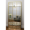"Brooklyn - Vintage Gold Industrial Full Length Metal Window Mirror 72"" x 36"" (180cm x 90cm)"