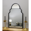 "Algiers - Black Industrial Arched Metal Mirror 41"" x 24"" (104cm x 60cm)"