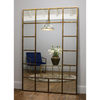 "Camden - Antique Gold Industrial Full Length Metal Window Mirror 71"" x 47"" (179cm x 119cm)"