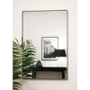 "Theo - Black Industrial Contemporary Rectangular Metal Wall Mirror 36"" x 24"" (90cm x 60cm)"