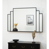 "Manhattan - Black Art Deco Rectangular Wall Mirror 48"" x 32"" (120cm x 80cm)"