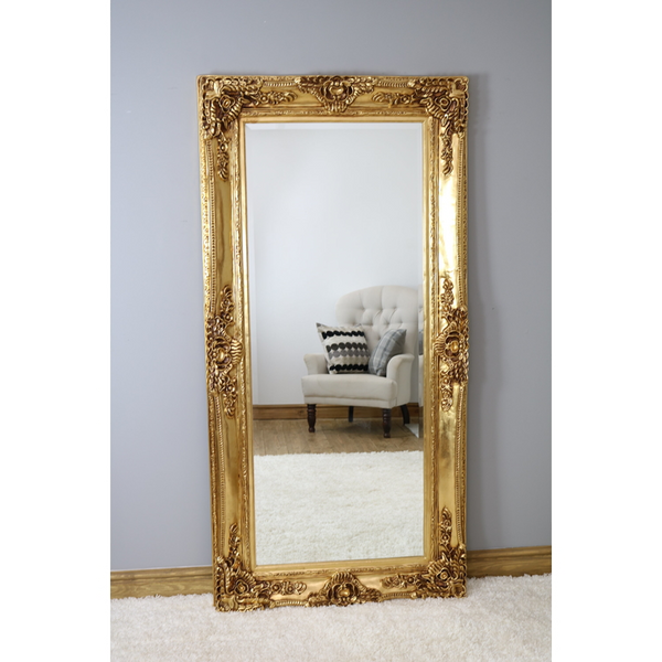 "Ella - Gold Ornate Full Length Mirror 80"" x 40"" (200cm x 100cm)"