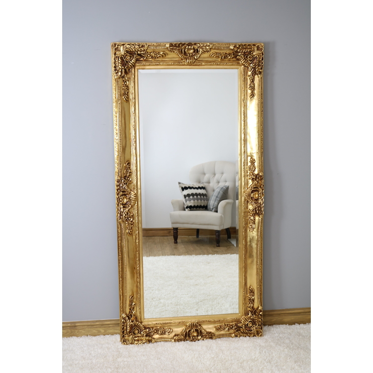 "Ella - Gold Ornate Full Length Mirror 72"" x 36"" (180cm x 90cm)"