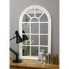 "Arabella - Matte White Arched Window Mirror 40"" x 24"" (100cm x 60cm)"