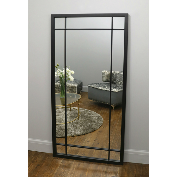 "Boston - Black Industrial Full Length Mirror 72"" x 36"" (180cm x 90cm)"