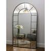 "Chicago - Crushed Black Industrial Arched Full Length Metal Mirror 71"" x 40"" (179cm x 100cm)"