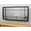 "Boston - Black Industrial Window Mirror 55"" x 28"" (140cm x 70cm)"