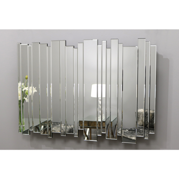 "Skyline - Contemporary Art Deco Rectangular Modern Wall Mirror 48"" x 32"" (120cm x 80cm)"