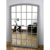 "Bollin - Grey Arched Full Length Window Mirror 72"" x 48"" (180cm x 120cm)"