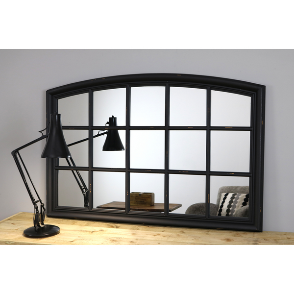 "Bollin - Black Arched Console Window Mirror 48"" x 32"" (120cm x 80cm) **10 ONLY @ £99.99**"