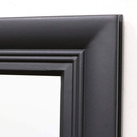 "Bordeaux - Black Rectangular Full Length Window Mirror 68"" x 41"" (173cm x 103cm)"