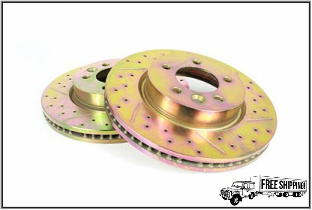 FRONT DRILLED BRAKE ROTOR DISC SET
