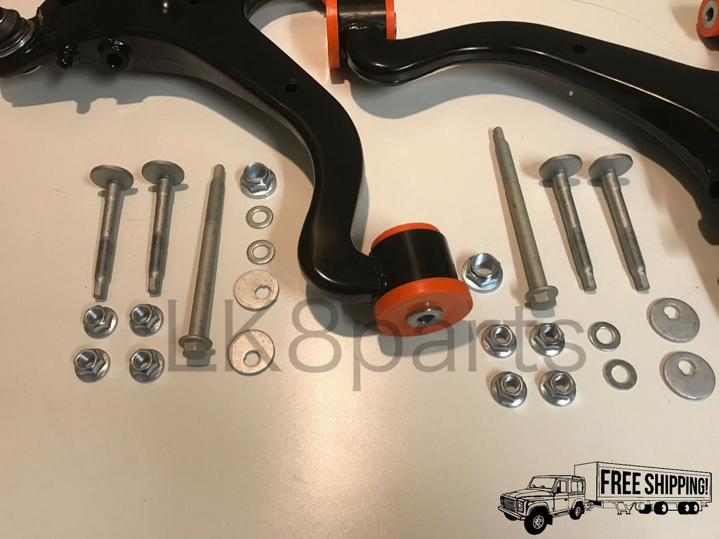 LR3 FRONT POLYBUSH LOWER CONTROL ARM KIT W HARDWARE