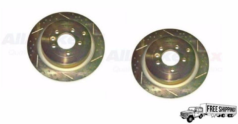 REAR BRAKE ROTOR DISC DRILLED SET x2