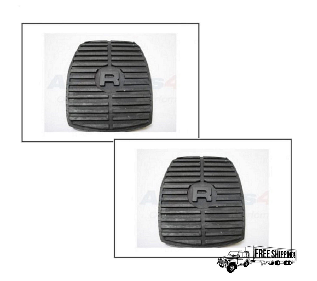 LAND ROVER BRAKE & CLUTCH RUBBER PEDAL PAD x2