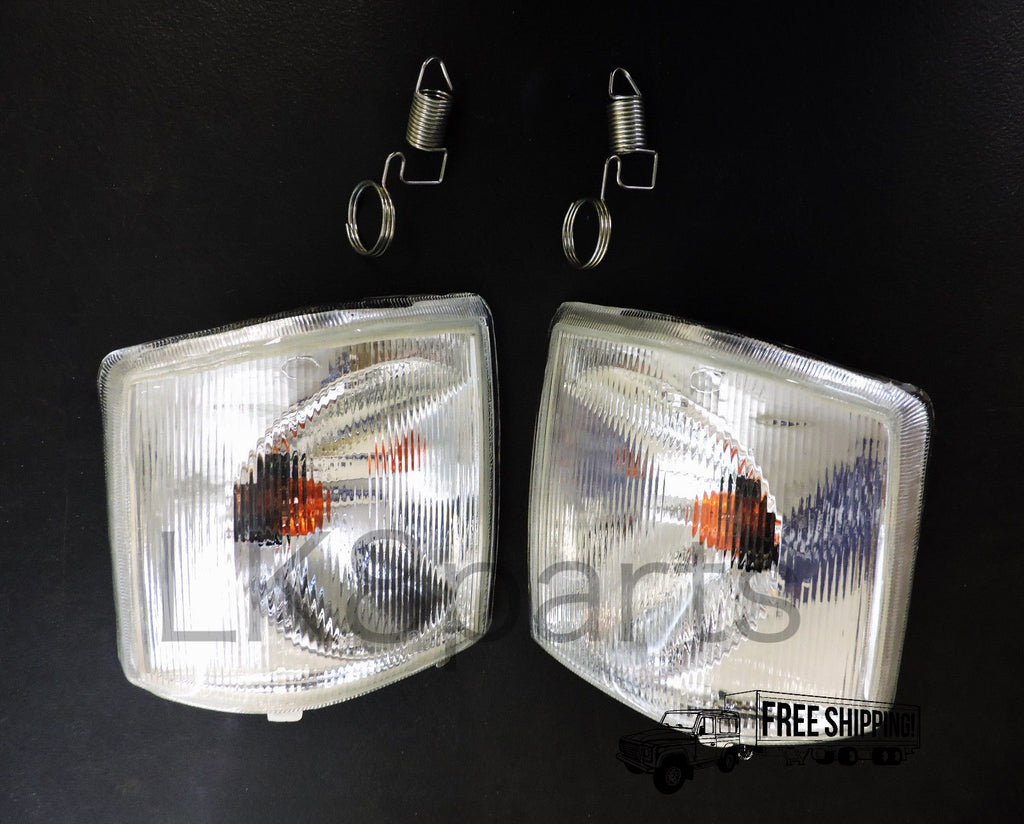WHITE CLEAR FRONT INDICATOR LAMP LIGHT SET