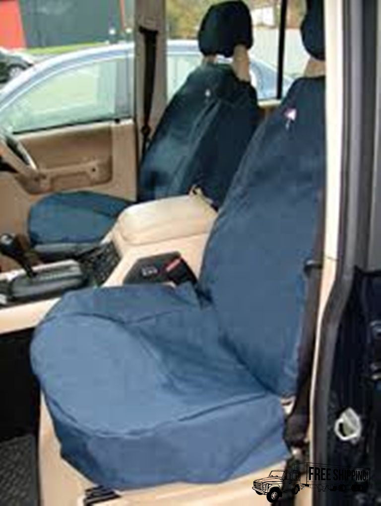 BLUE WATERPROOF FRONT SEAT COVERS SET