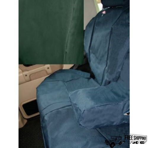 GREEN WATERPROOF REAR SEAT COVERS SET