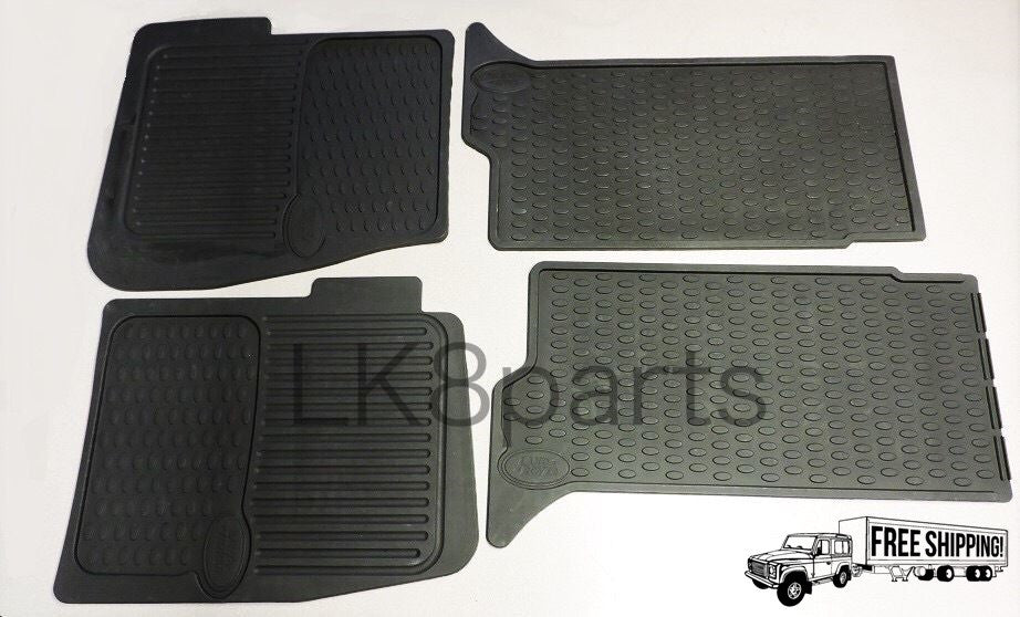 GENUINE Land Rover Discovery 2 Front and Rear Rubber Floor Mats