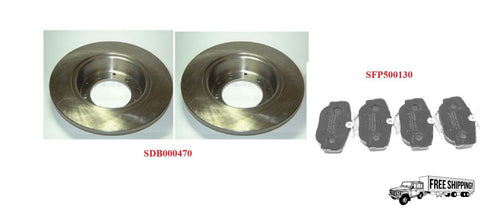 REAR ROTOR DISC & PAD SET