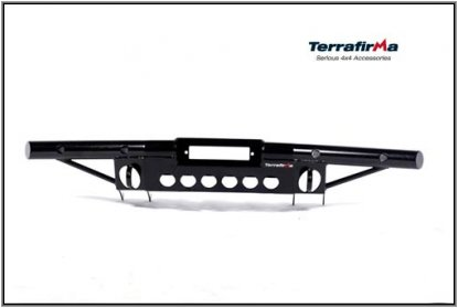 Terrafirma Defender Tubular Winch Bumper, with A/C - Superwinch LP8500, EP9, EP9, EP9.5, EP9.5 and Warn XD9000, XDC and 9.5XP